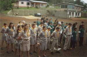 acampamento xaxim-xanxere, com o clube sentinela verde d'oeste