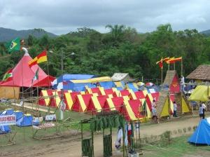 área de acampamento no campori em são josé