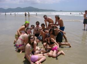 na praia...