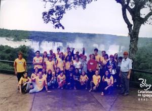 2002 - Foto oficial nas Cataratas, em Foz do Iguaçu (campori, aí vamos nós!!)