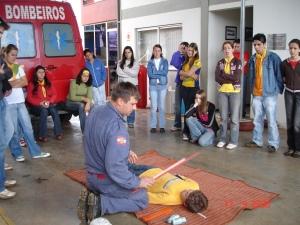 2006 - Visitando os Bombeiros